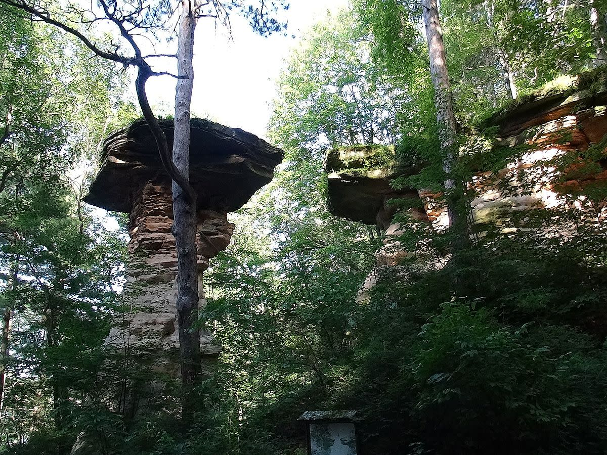Stand Rock at Wisconsin Dells