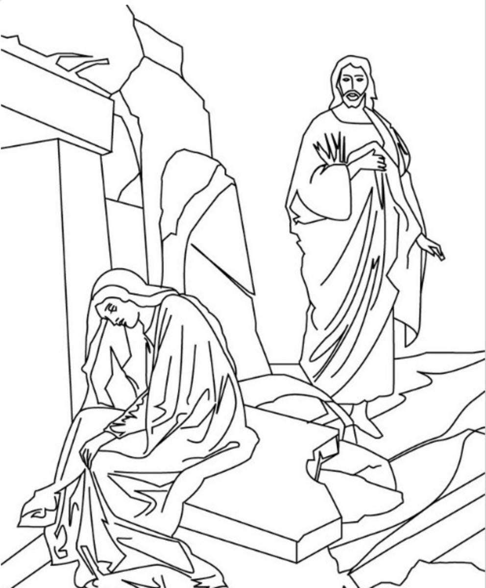 Free Coloring Pages Of Jesus Dead And Risen