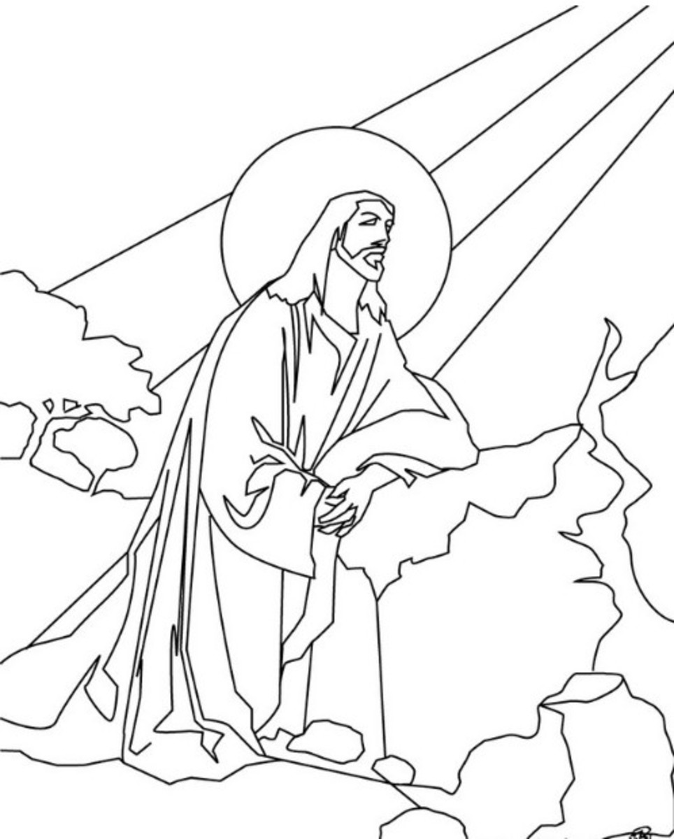 On the Cross Printable Coloring Pages of Jesus for Kids