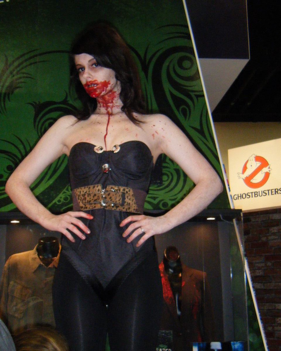 Use pieces from your wardrobe to put together your unique vampire costume. Don't forget the blood!