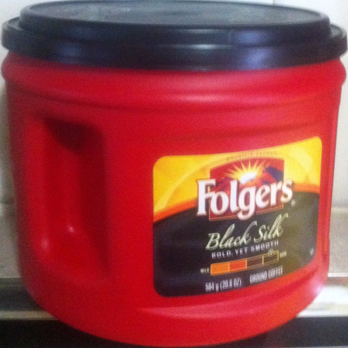Folgers Coffee Can with Built In Handle