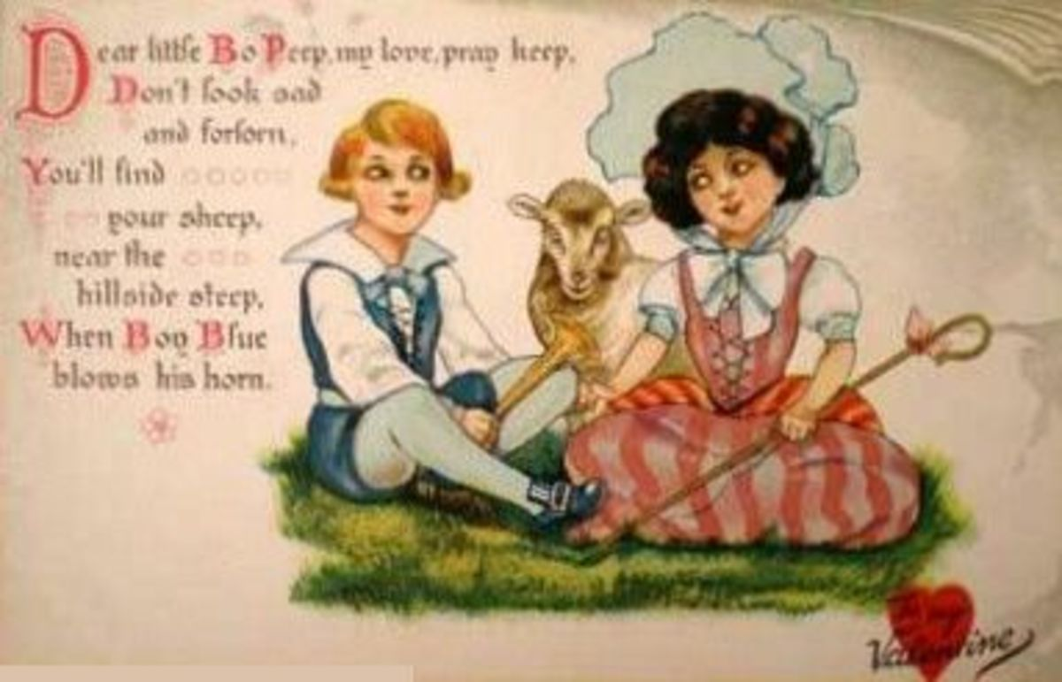 Little Boy Blue and Bo Peep Valentine