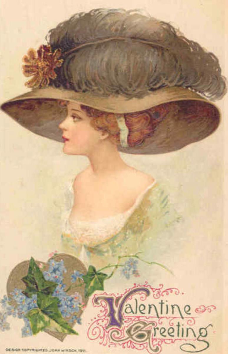 Victorian Hat Valentine