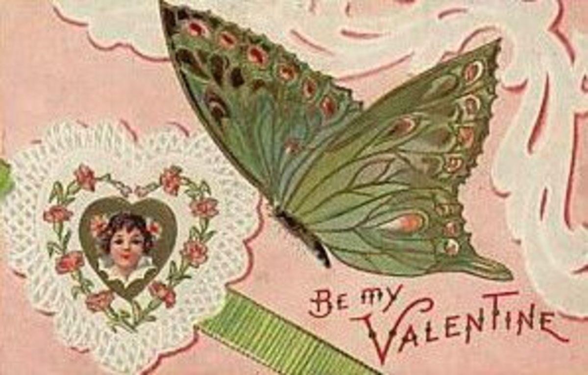 Victorian Butterfly Valentine