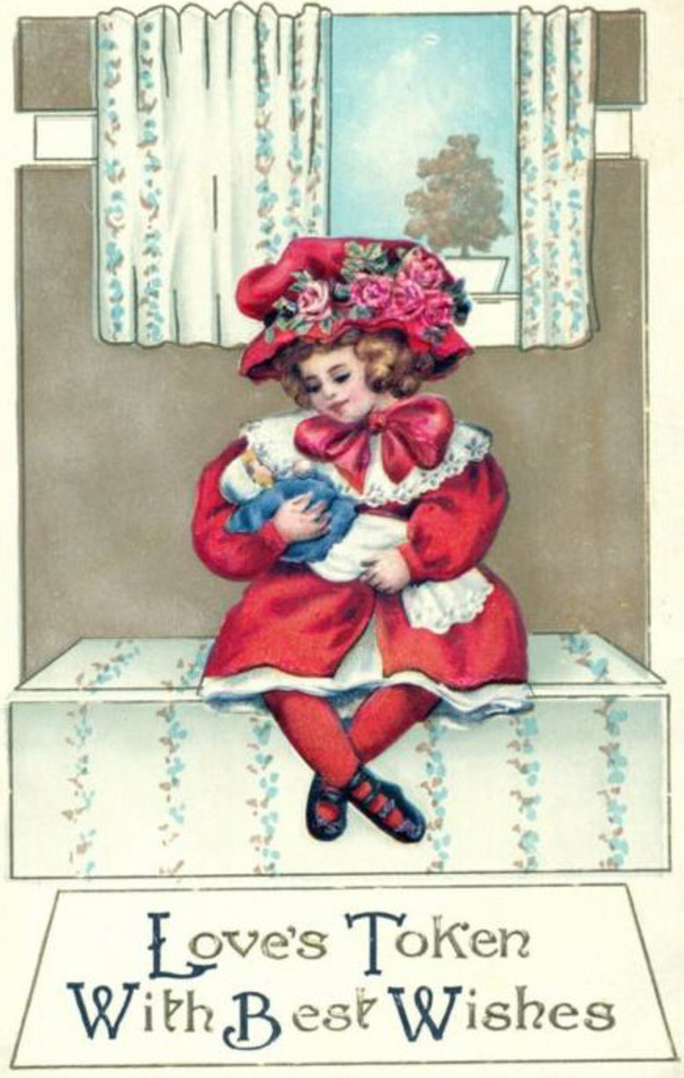 Victorian Girl in Red