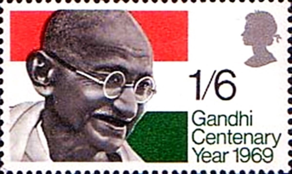 Gandhi stamp by England