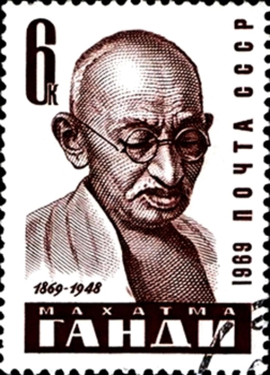 Gandhi Stamp by Soviet Union
