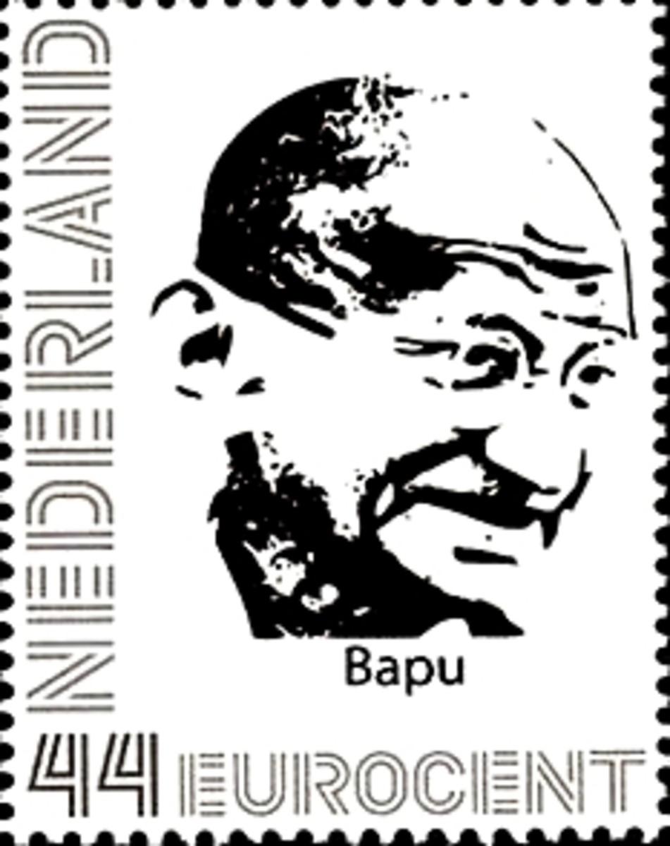 Gandhi stamp by Netherland