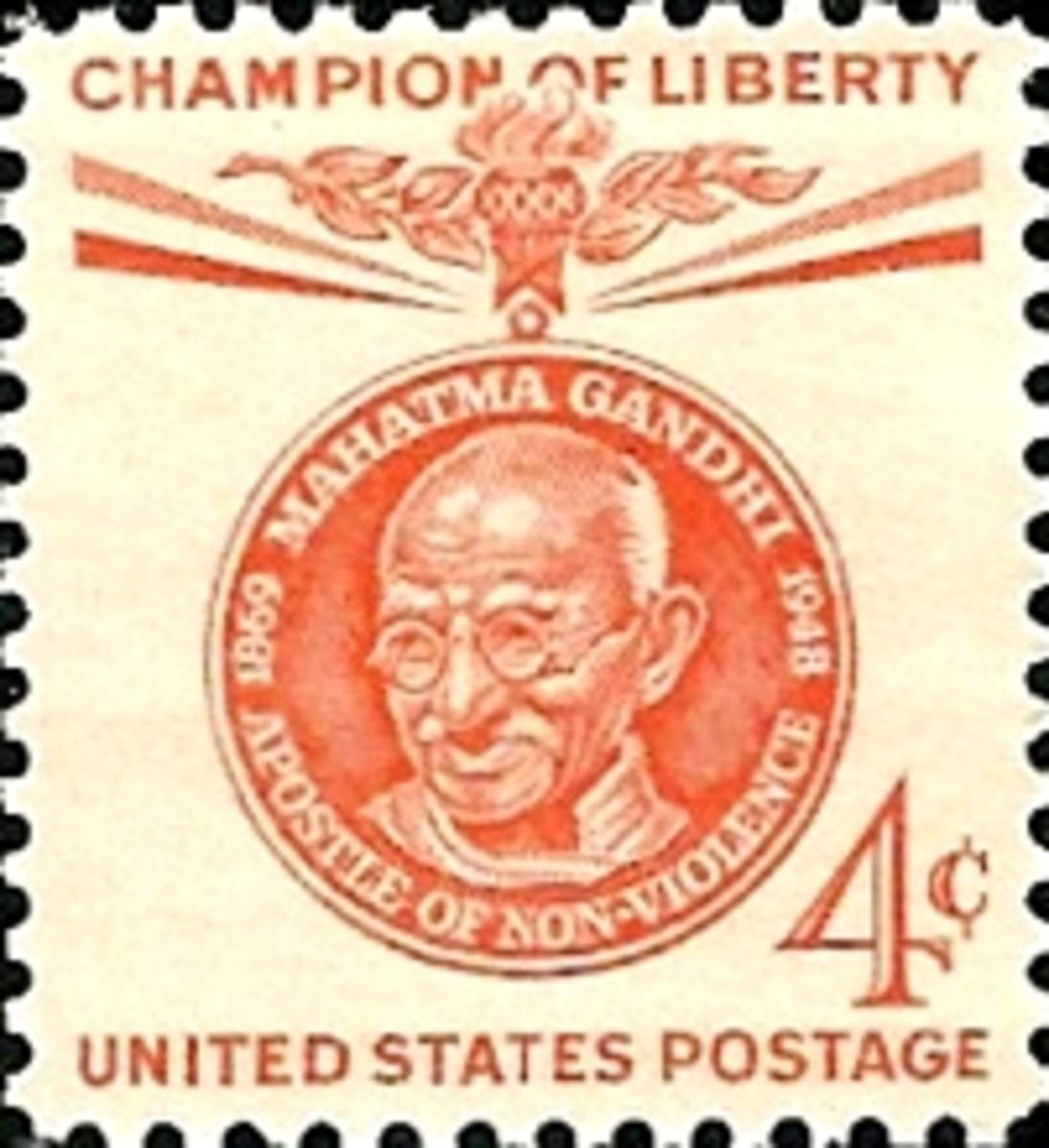 Mahatma Gandhi Stamp United States