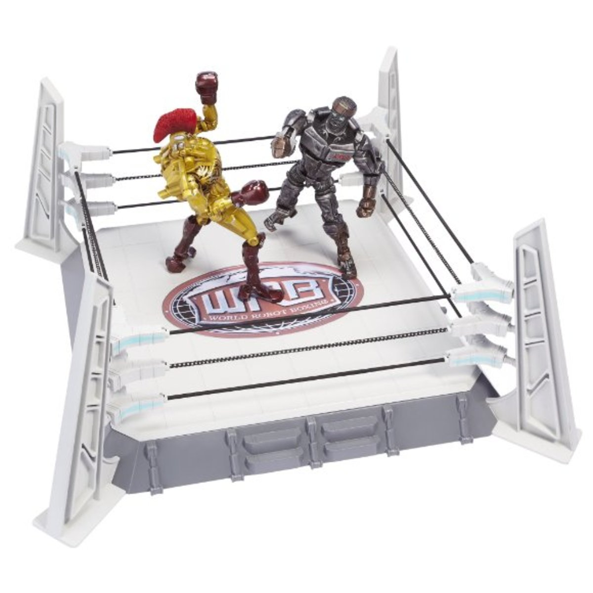 Are you ready for Roooooboooooooooot Boxinnnnnnnnnng? And in this corner is Midas, ...fighting against Atom - the new robot in the boxing league. (Robot figures sold separately)