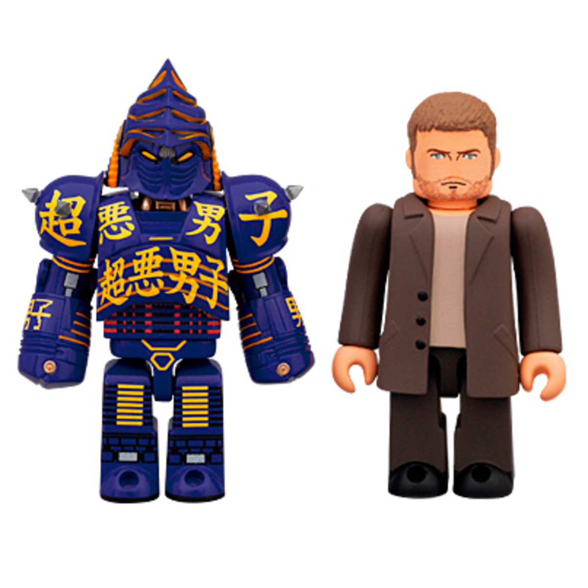 Two sets of Kubrick minifigs: Noisy Boy and Charley, or Atom and Max together.