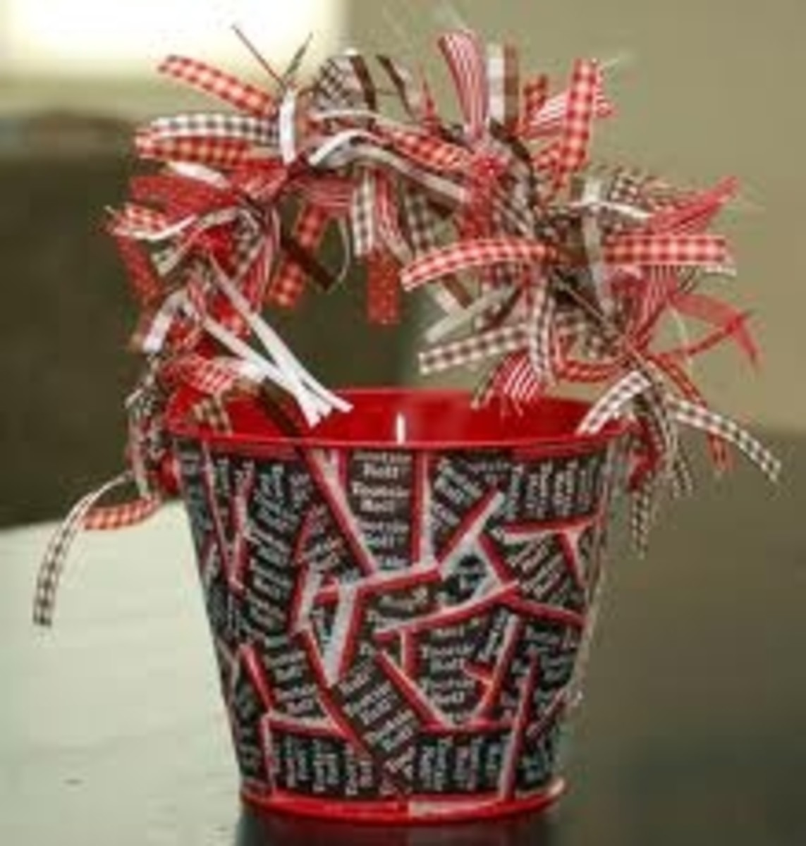 Tootie Roll Wrapper Bucket