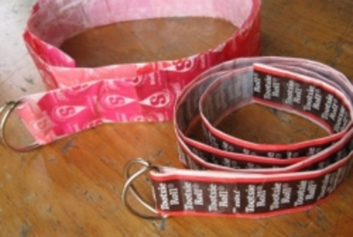 Tootsie Roll Candy Wrapper Belt