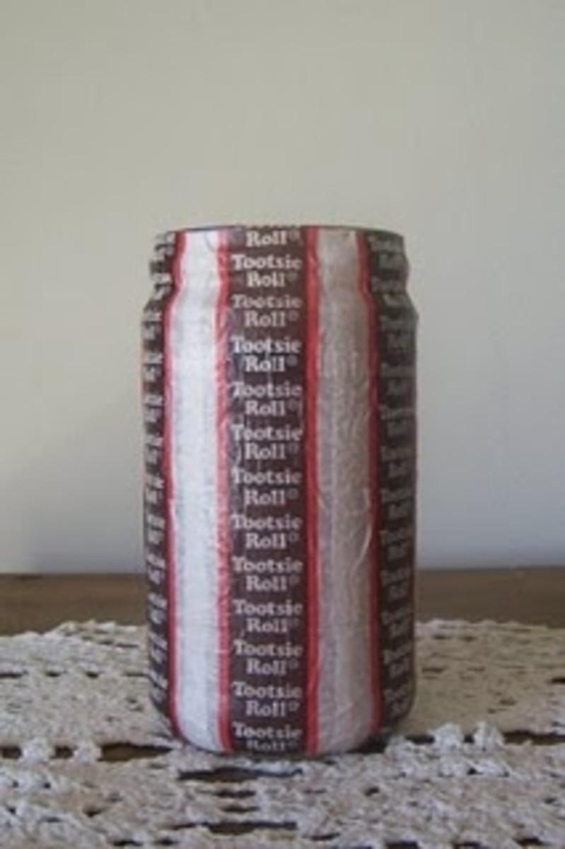 Tootsie Roll Candy Wrapper Jar