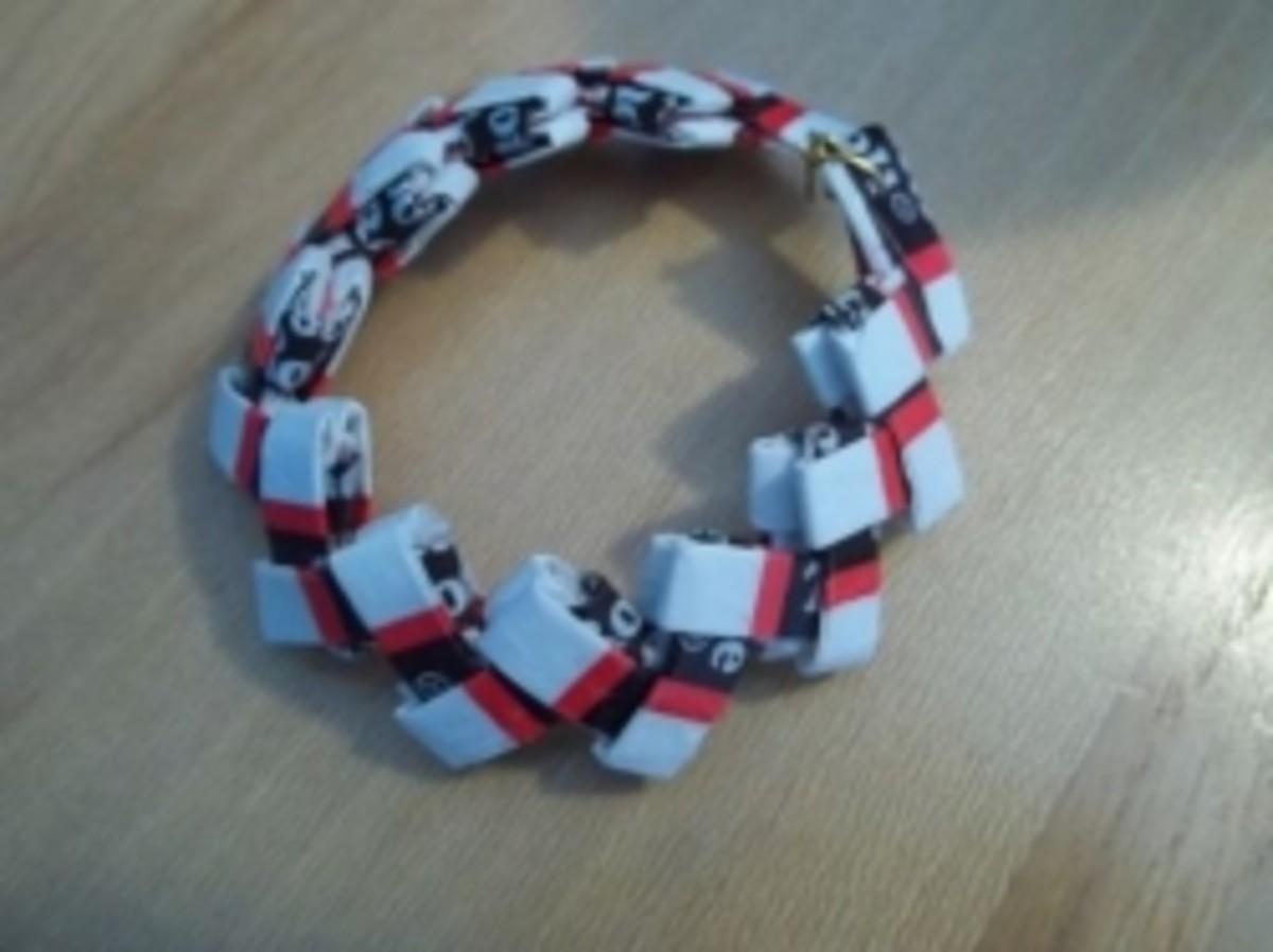 Tootsie Roll Candy Wrapper Bracelet