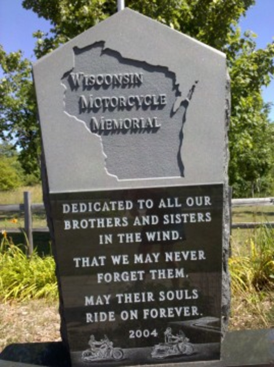 USA's First Motorcycle Memorial Park, Door County, Wisconsin