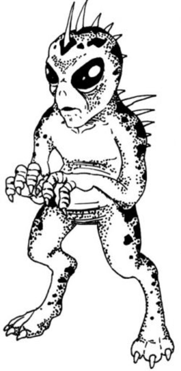 Classic representation of Chupacabras
