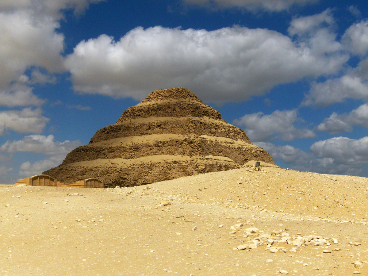 Stepped pyramid at the ruins of Memphis