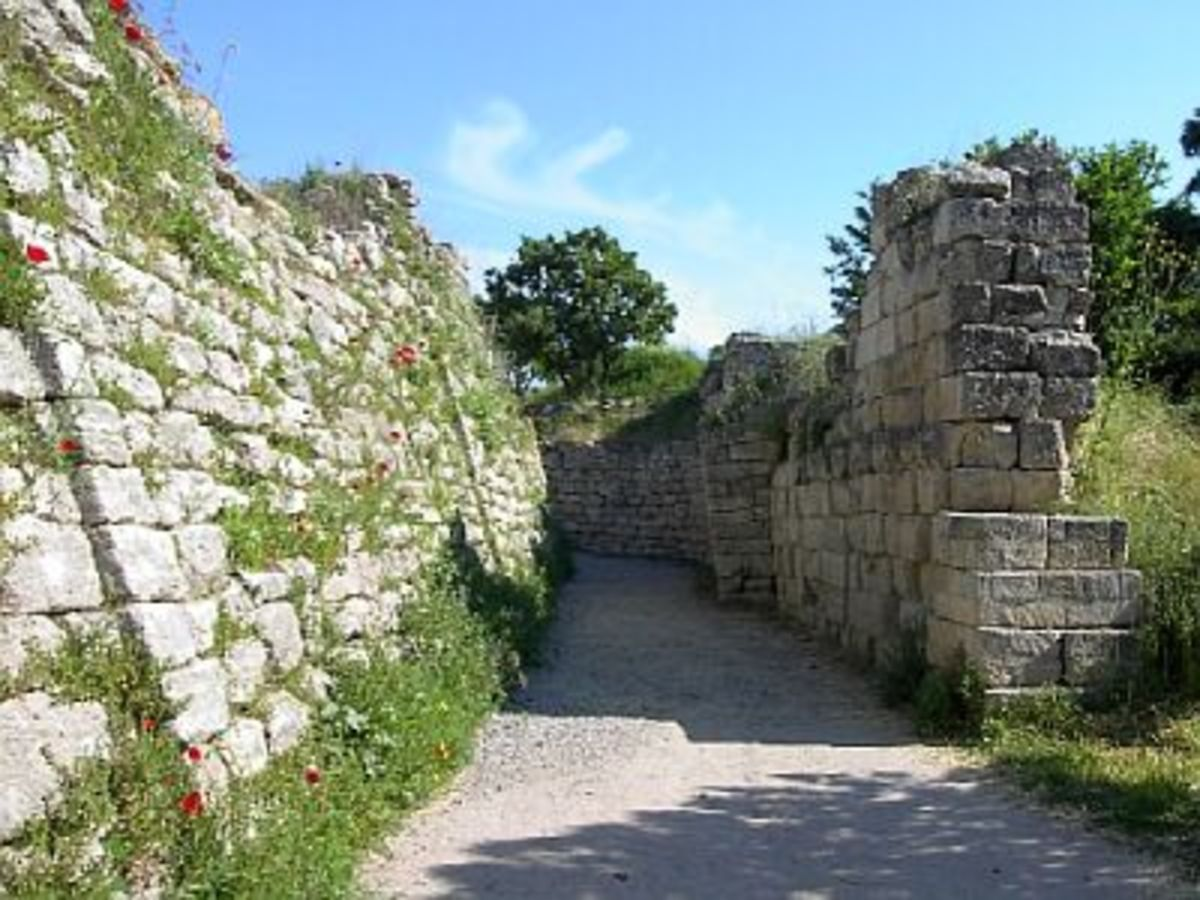 Walls of the city of Troy