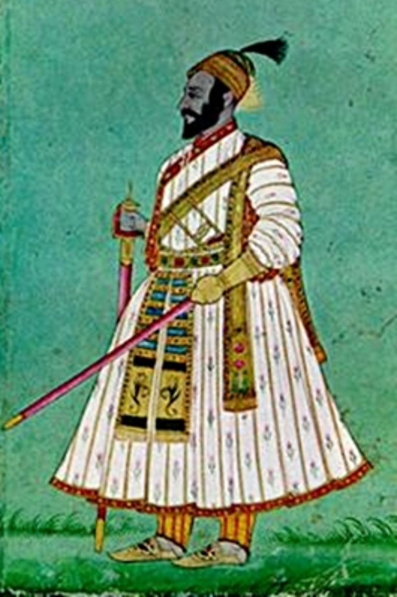 A rare painting of King Shivaji