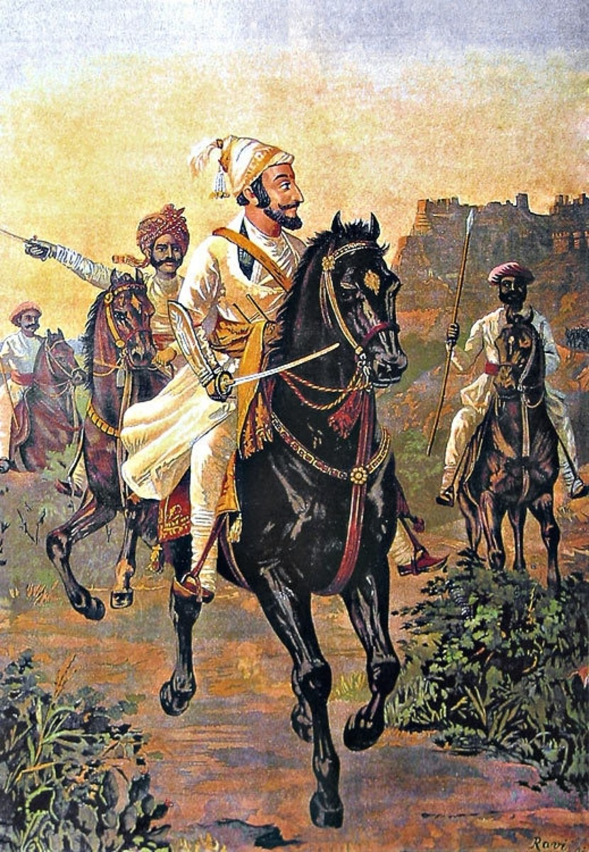 Painting of Shivaji by Raja Ravi Varma