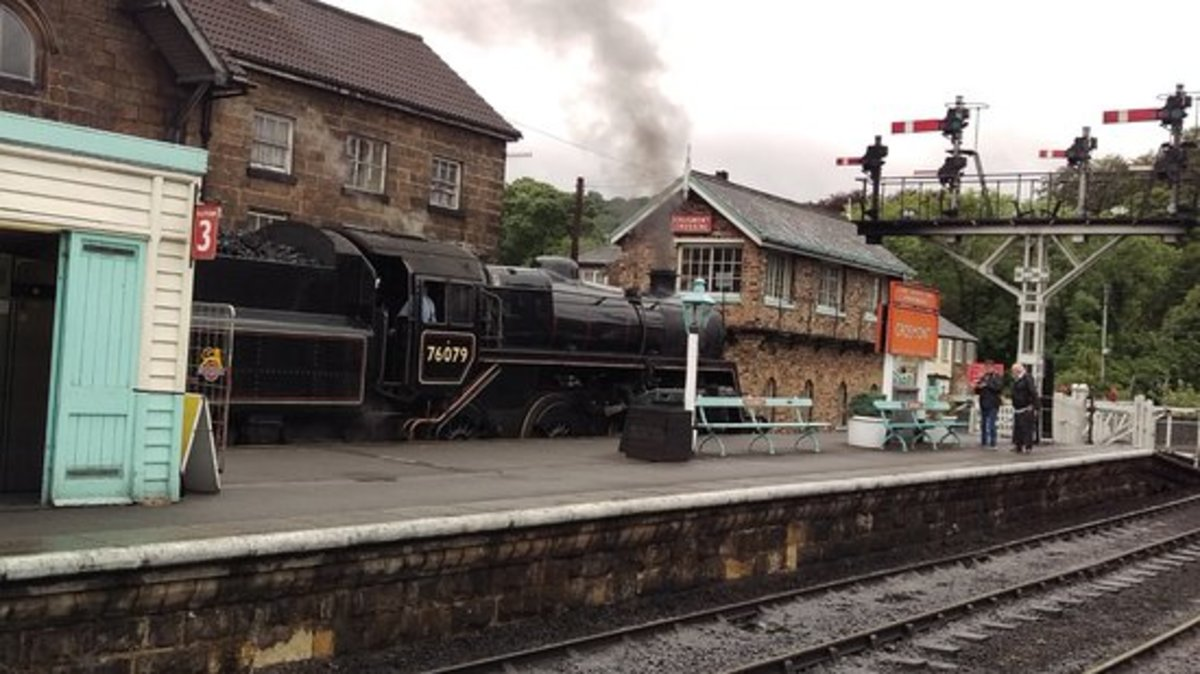 Grosmont Station bears the unmistakable stamp of British Railways' North Eastern Region. The LNER and prior to that the NER left clues to earlier ownership. The Whitby & Pickering Railway's only clue is the foot tunnel to Deviation Shed. Go and look