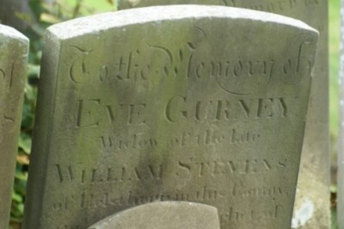 Eve Gurney died 1853 (close up)