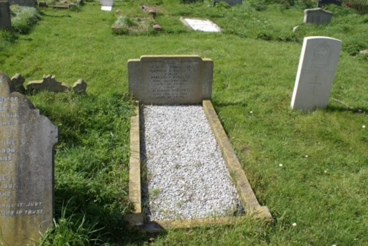 Hannah L. Parrott died 25 Jan 1964 and Eleanor Parrott died 21 Feb 1922, gravestone location 49b, St. Lauds, Sherington