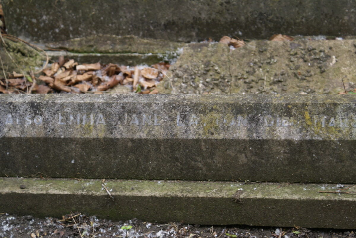 And this side of the grave provides details for Emma Jane Layton