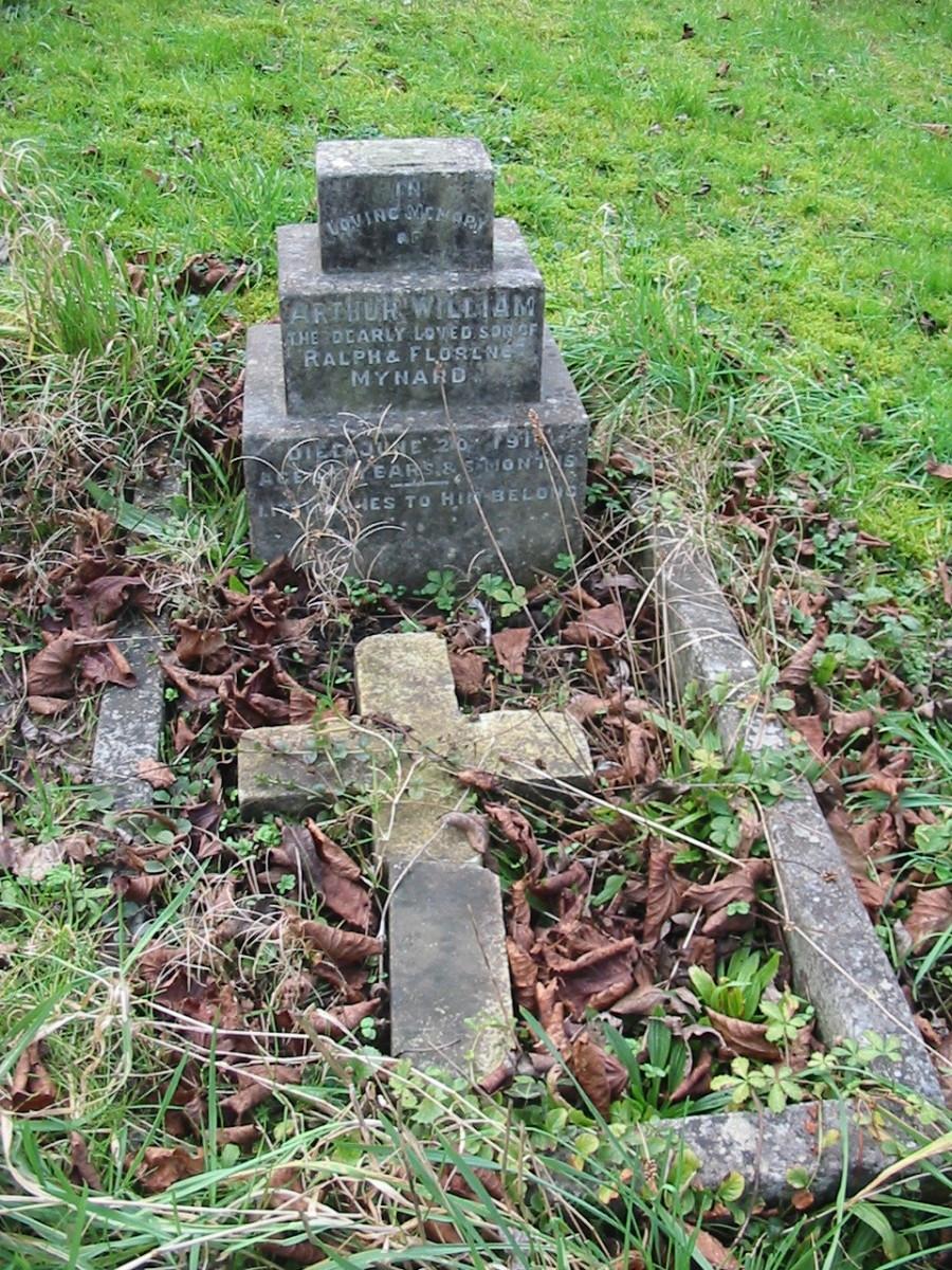 Arthur William Mynard died 20 Jun 1911, born Jan 1908