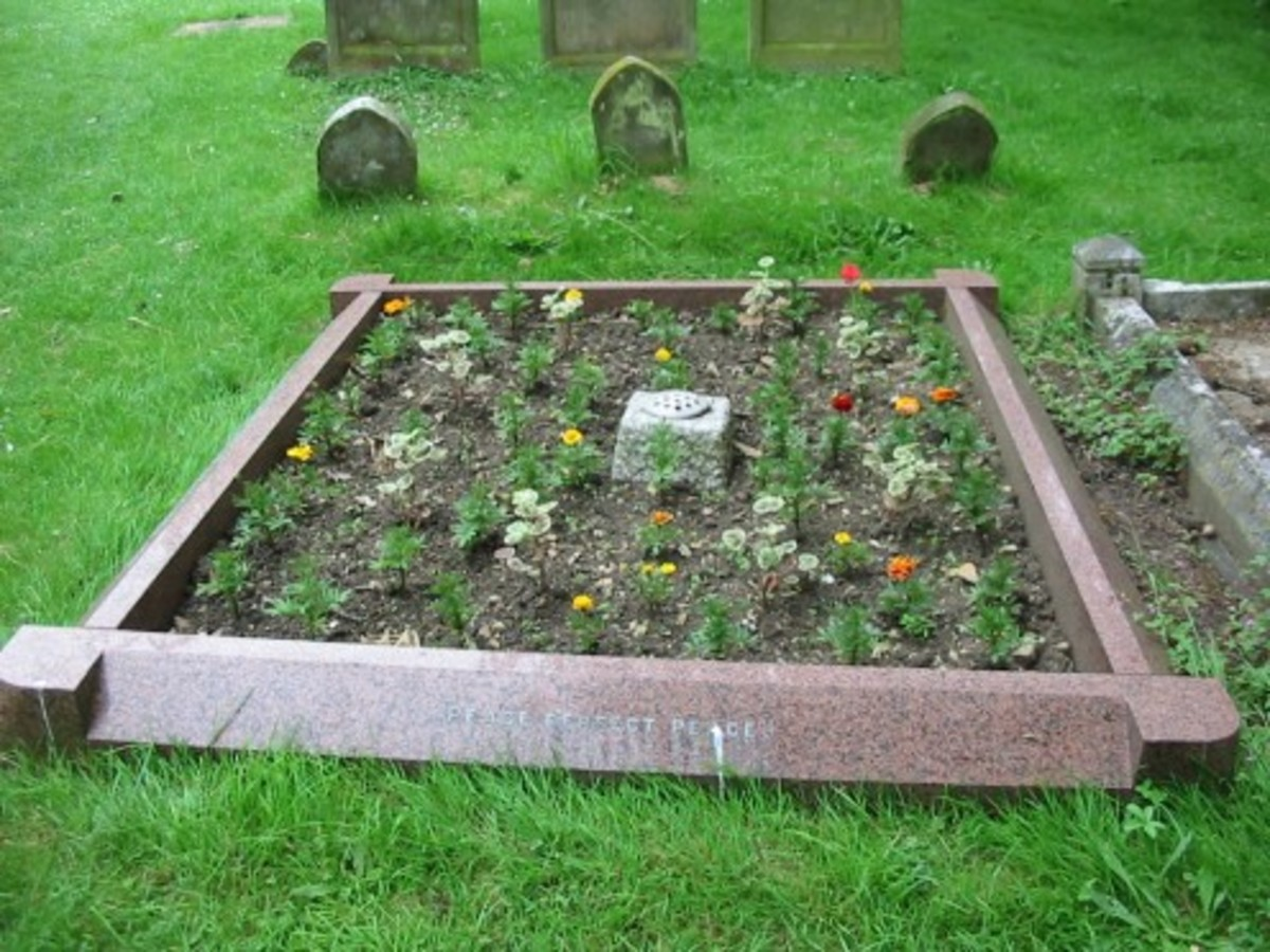Elisabeth Jost, died 27 Jan 1937, buried in St. Andrews, Great Linford.