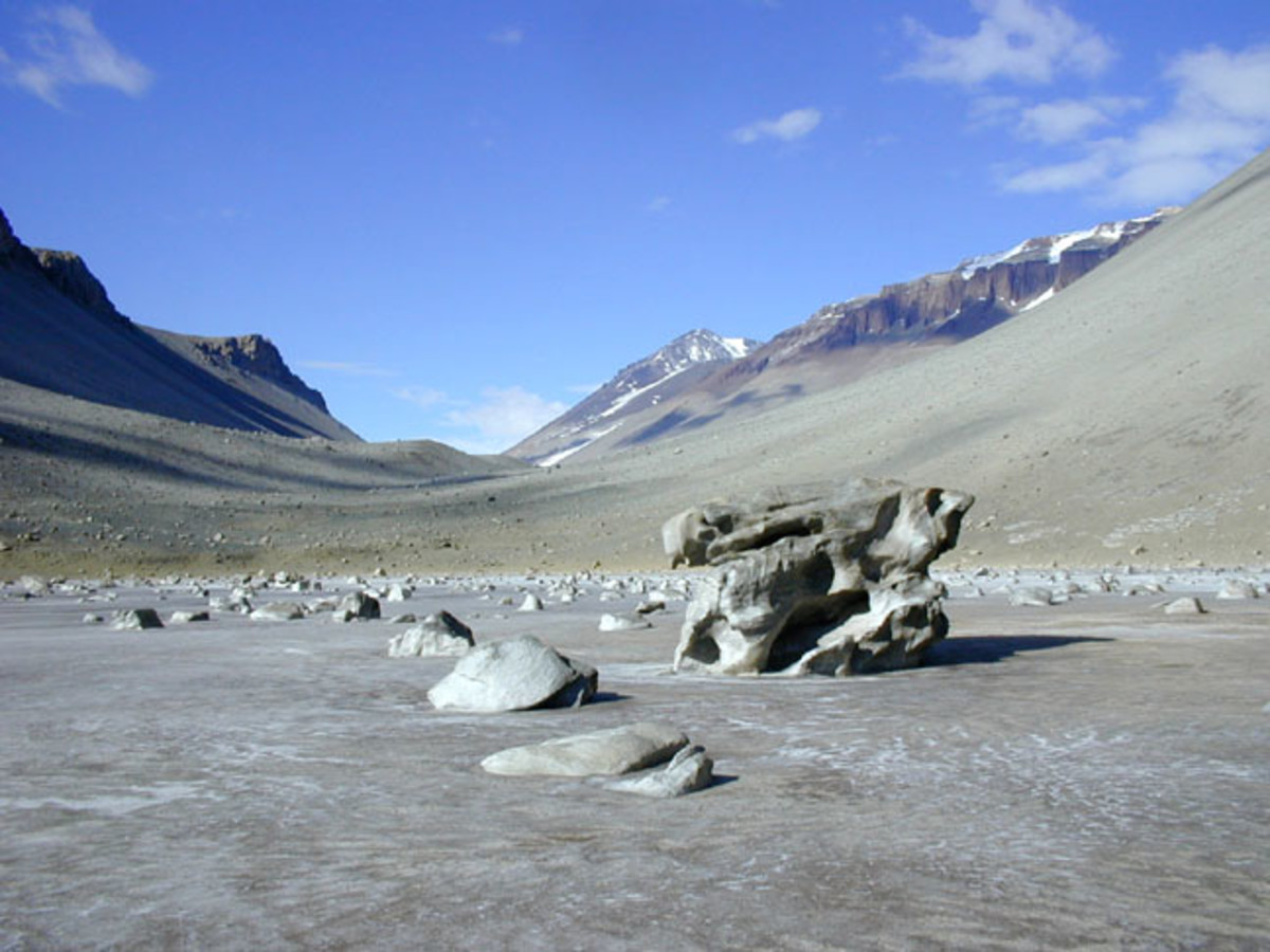 Don Juan Pond, Dry Valleys, Antarctica, 1999
