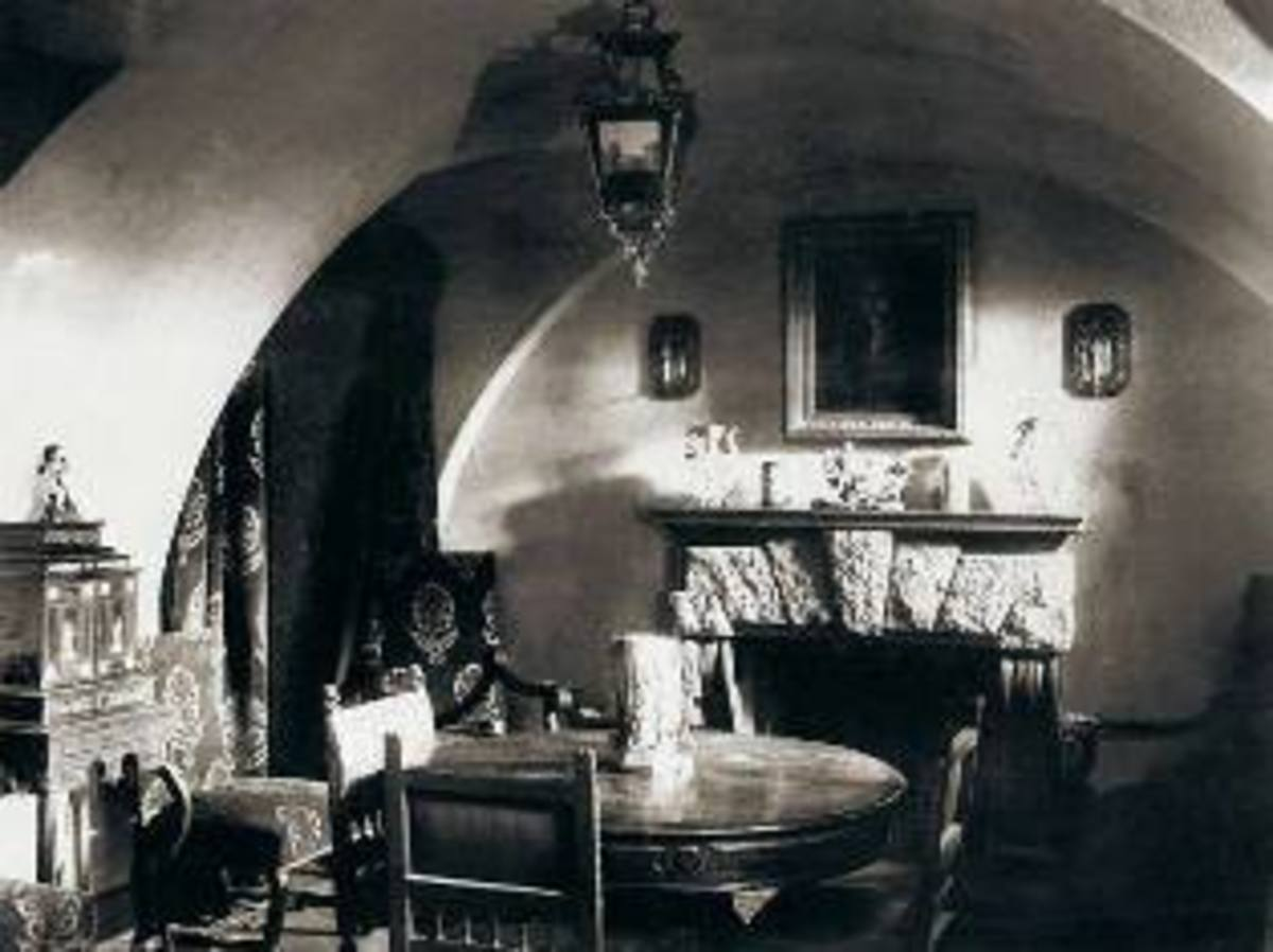 Basement of the Yusupov Palace in St Petersburg where Grigori Rasputin was murdered