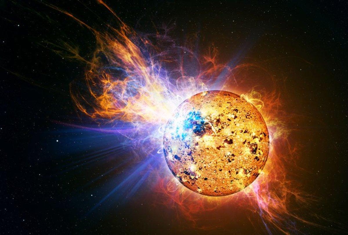 The Suns solar flare