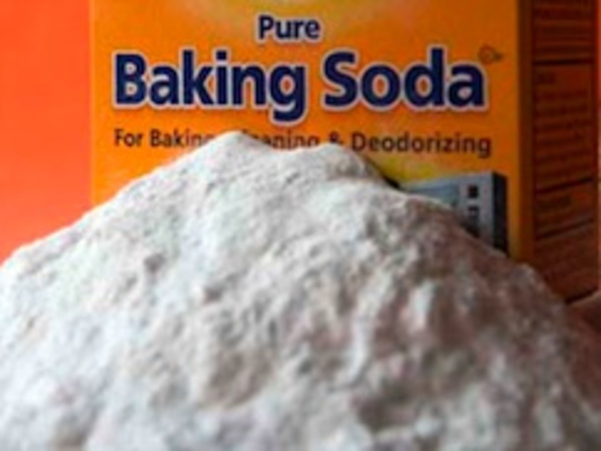 use baking soda for hard to remove stains on plastic containers