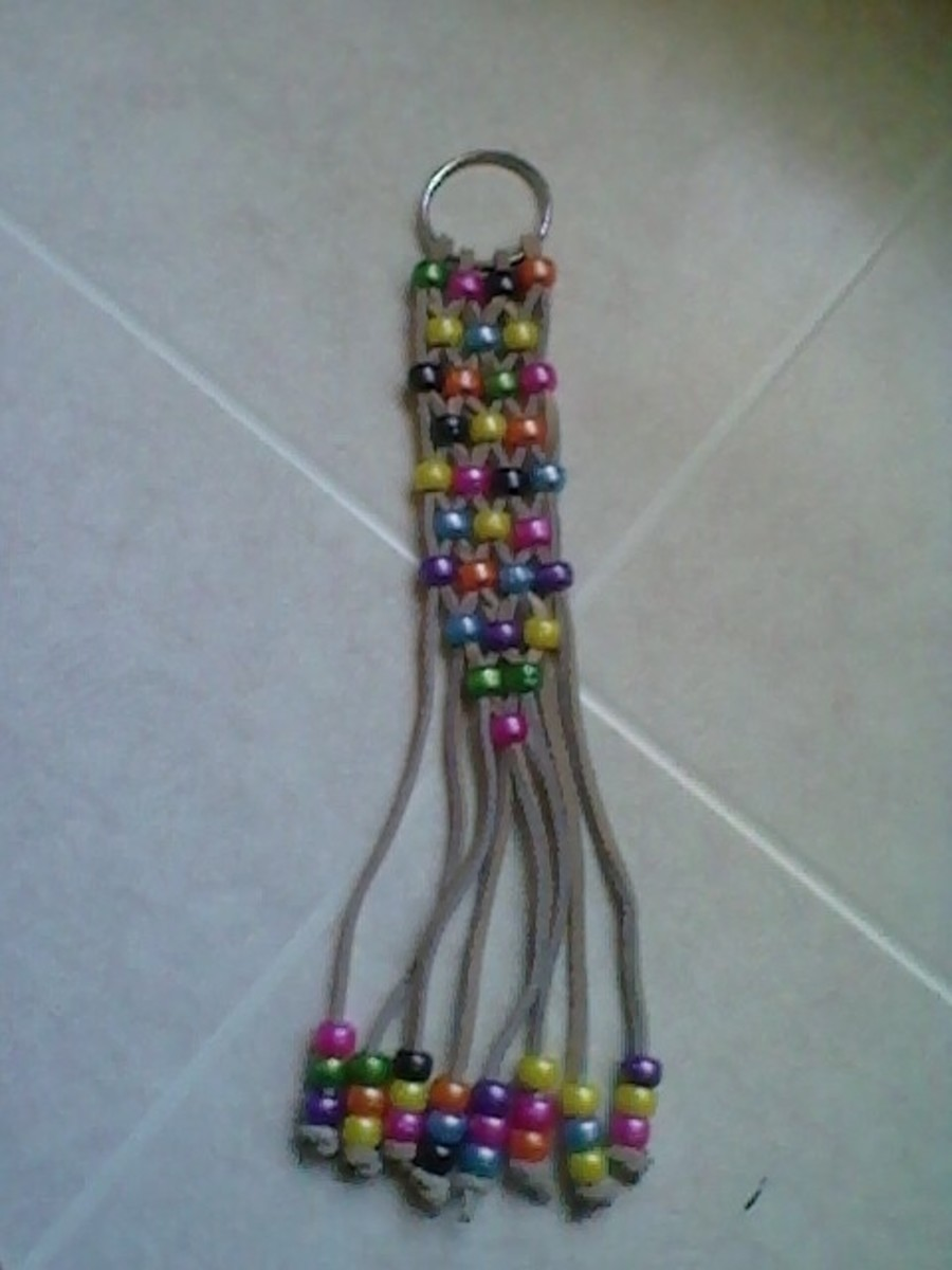 craft ideas beads craft a beaded key chain for any gift occasion 1521