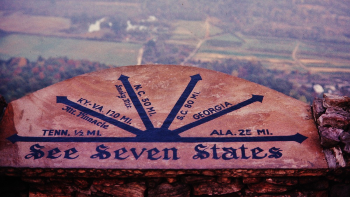 Sign at Rock City on Lookout Mountain in Chattanooga, Tennessee