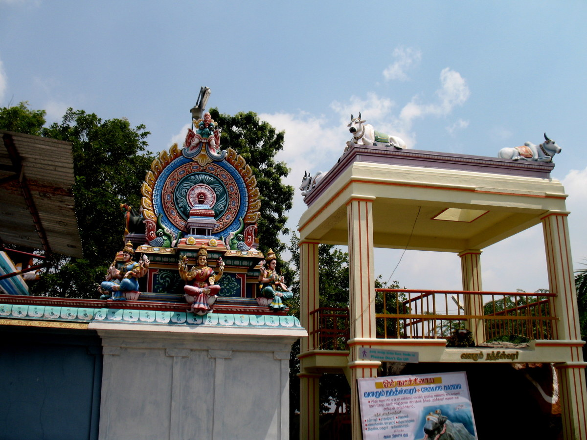 A simple art on the temple.