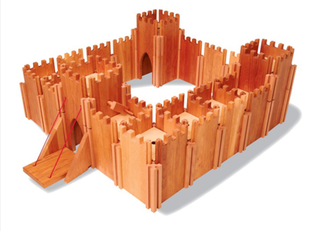 Wooden Toys For Boys : Toy castles forts for children kids wooden