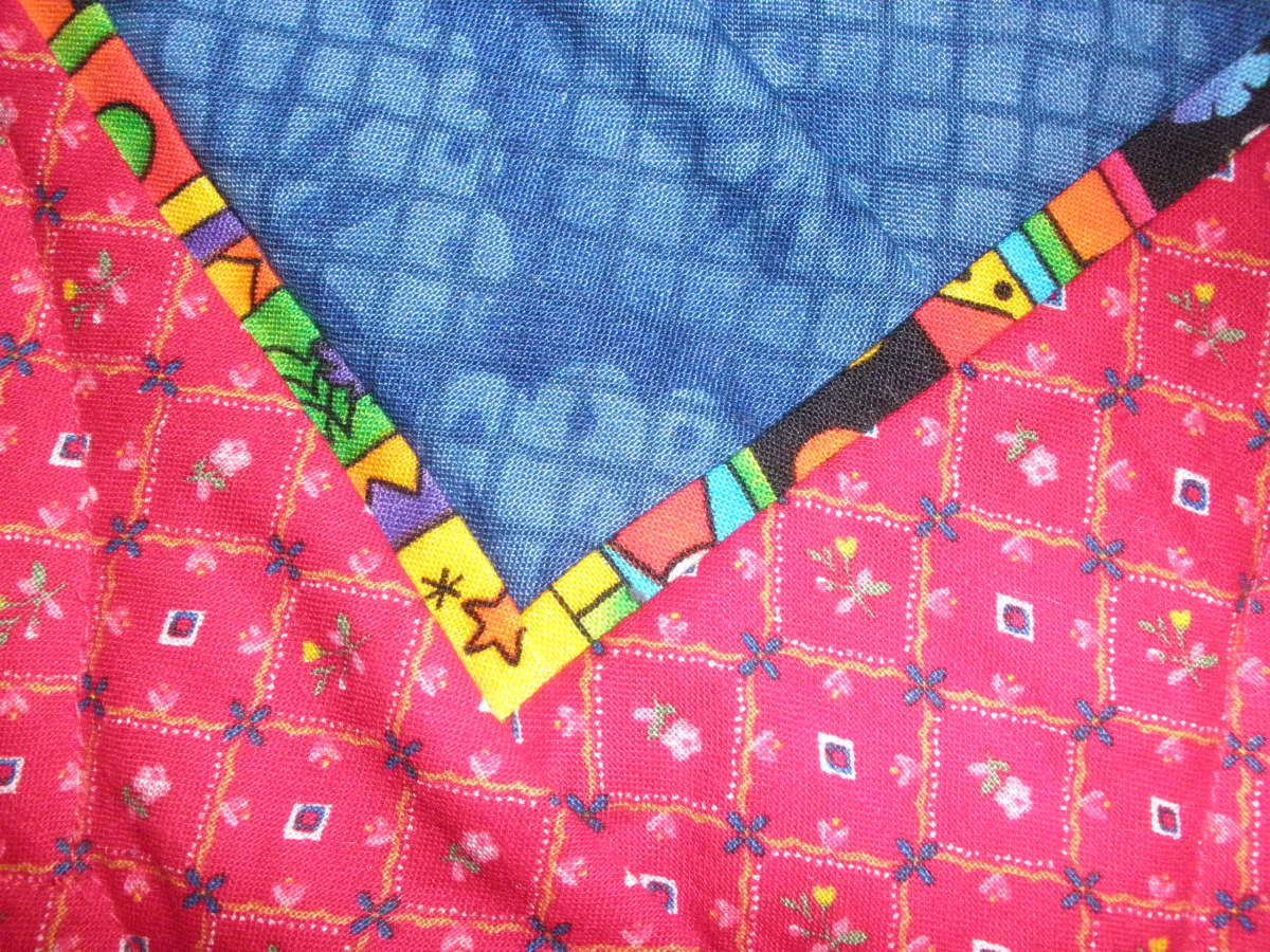 Whether you call it a peeper, extension, or thingie, a flange using a fun fabric livens up a quilt.