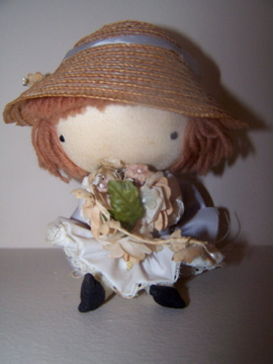 """The """"Flower Girl"""" doll is illustrated next to the title page of """"What Color is Love?"""""""