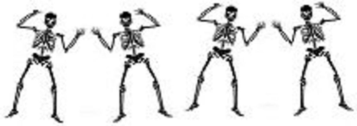 Skeletons border clip art