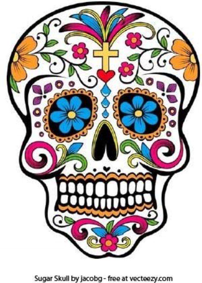 Vector graphic skull art b