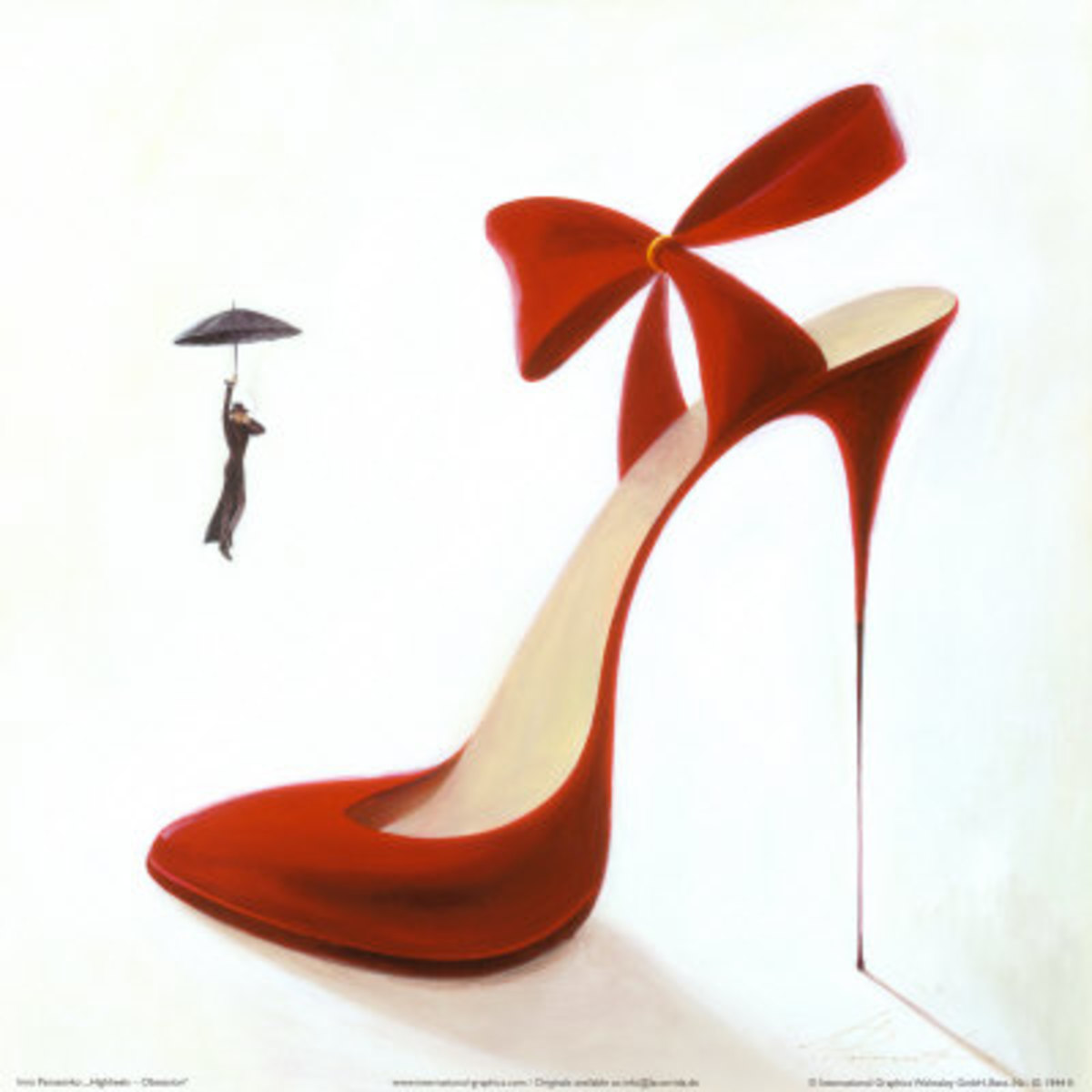 High heels do look nice and appealing indeed, but only when they're clean and not broken...