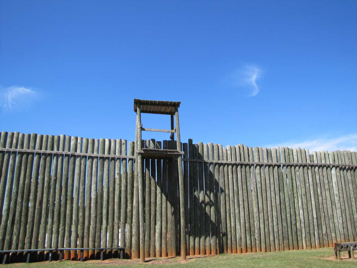 What the guard towers looked like.