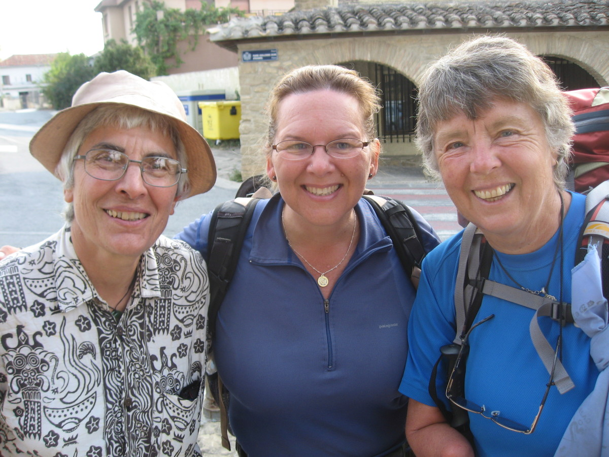 "Me and Marie-Belle with our ""guide"" Nancy."