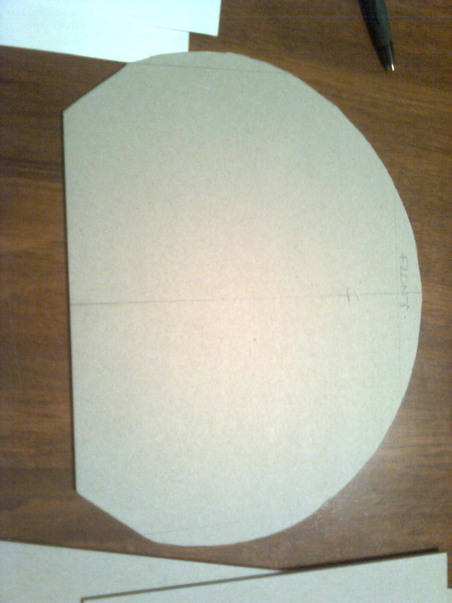 Entire suit will be made primarily from pasted box-board card cut to fit.