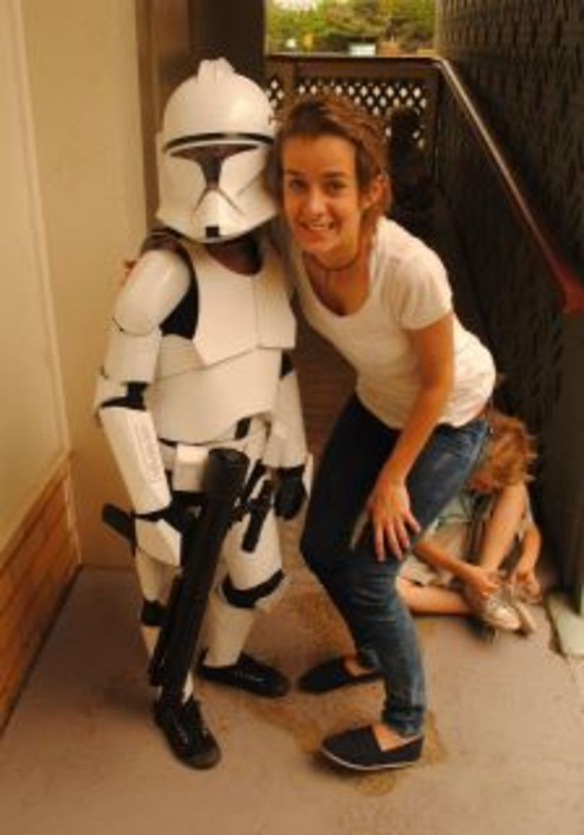 Clone Trooper with older sister