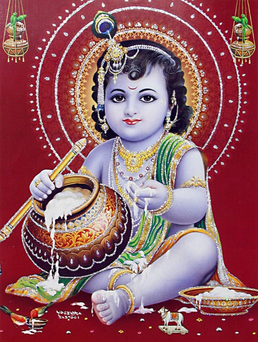 Krishna when he was a kid