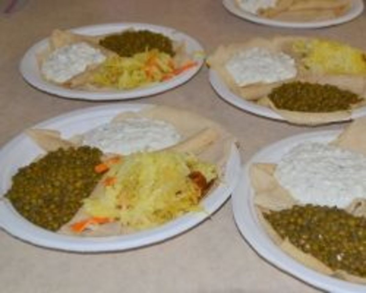 Ethiopian Feast - This photo was taken by Michelle Harrison, who participates in our class.